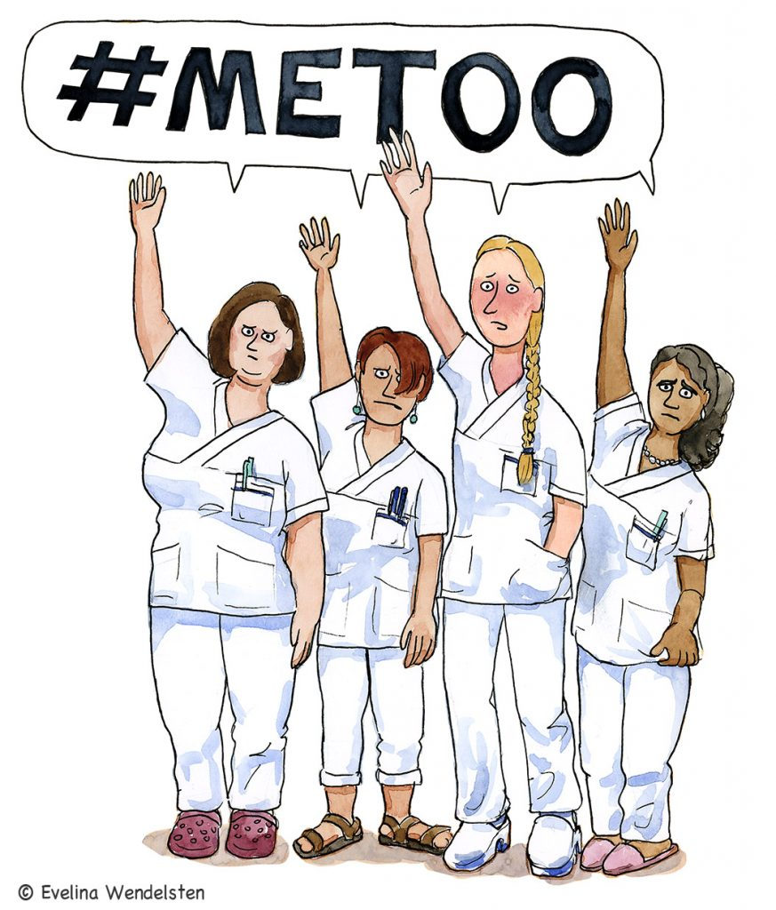 According to an survey, four of ten nurses in Swedish hospitals answered that they had been sexually harassed at work.